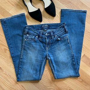 Silver Suki Surplus Boot Cut Stretch Jeans D3